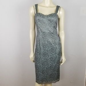 Adrianna Papell sleeveless lace dress 8